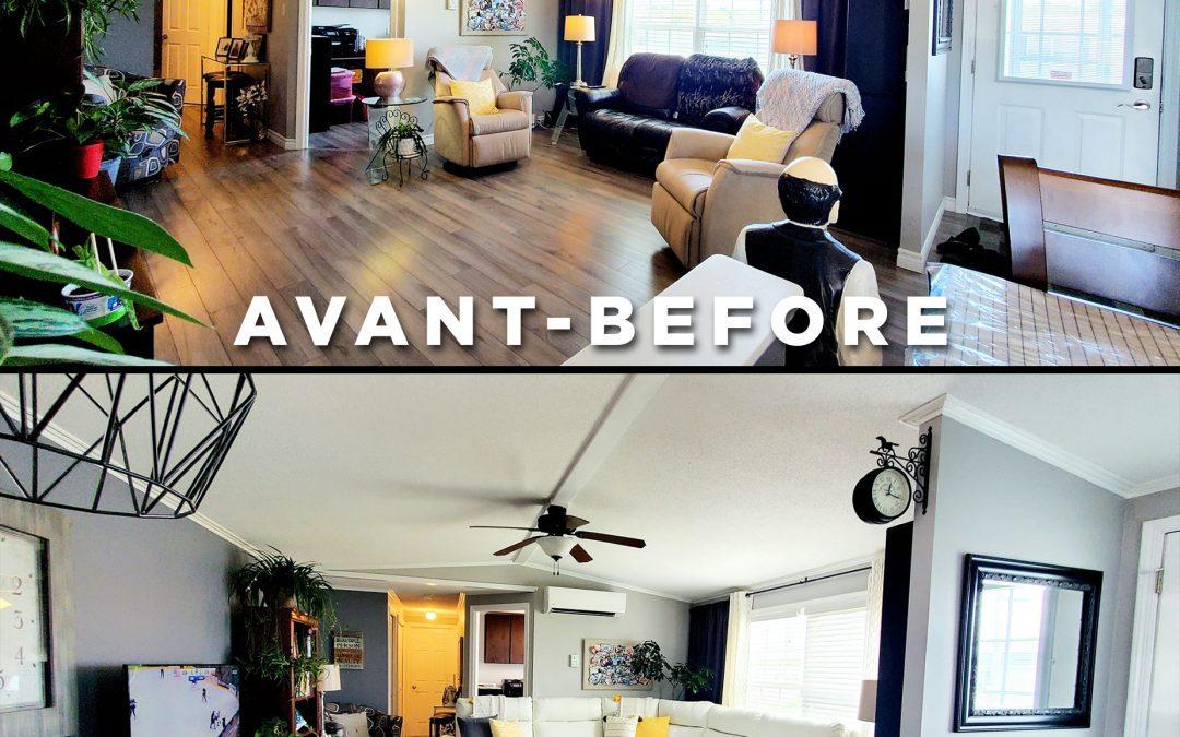 Avant et après! / Before and after!